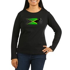 Boxing - Jamaica Women's Long Sleeve Dark T-Shirt