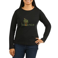 Balance Women's Long Sleeve Dark T-Shirt