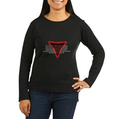 Sith Code Women's Long Sleeve Dark T-Shirt