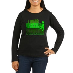 I Wear Lime 6.4 Lymphoma Women's Long Sleeve Dark T-Shirt