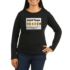 Beer Team 6 Logo Women's Long Sleeve Dark T-Shirt