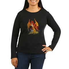 bloodwingBlkT Women's Long Sleeve Dark T-Shirt