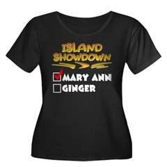 Island Showdown Women's Plus Size Scoop Neck Dark T-Shirt