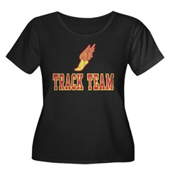 Track Team Women's Plus Size Scoop Neck Dark T-Shirt