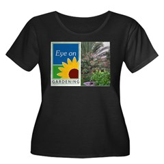Eye on Gardening Tropical Plants Women's Plus Size Scoop Neck Dark T-Shirt