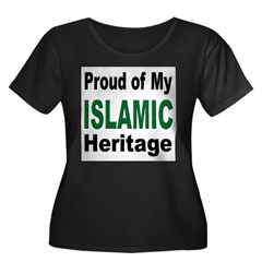 Proud Islamic Heritage Women's Plus Size Scoop Neck Dark T-Shirt