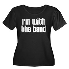 I'm with the Band Women's Plus Size Scoop Neck Dark T-Shirt