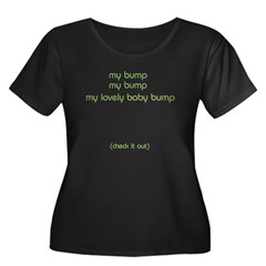 Baby Bump Women's Plus Size Scoop Neck Dark T-Shirt
