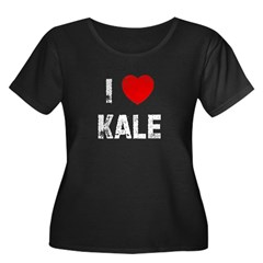I * Kale Women's Plus Size Scoop Neck Dark T-Shirt