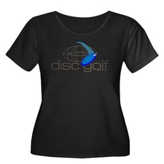 Disc Golf 3 Women's Plus Size Scoop Neck Dark T-Shirt