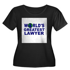 World's Greatest Lawyer Women's Plus Size Scoop Neck Dark T-Shirt