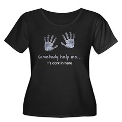 Baby Handprints Women's Plus Size Scoop Neck Dark T-Shirt