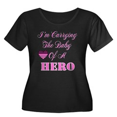 I'm carrying the baby of a He Women's Plus Size Scoop Neck Dark T-Shirt