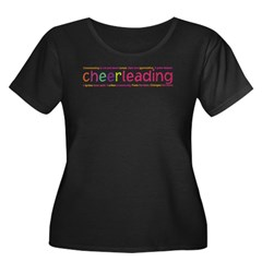 cheerleading Women's Plus Size Scoop Neck Dark T-Shirt