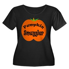 Pumpkin Smuggler Women's Plus Size Scoop Neck Dark T-Shirt