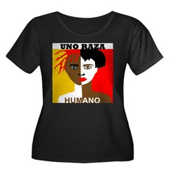 Anti-Racism Women's Plus Size Scoop Neck Dark T-Shirt