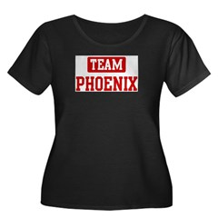Team Phoenix Women's Plus Size Scoop Neck Dark T-Shirt