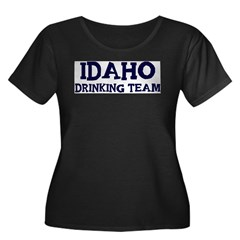 Idaho drinking team Women's Plus Size Scoop Neck Dark T-Shirt