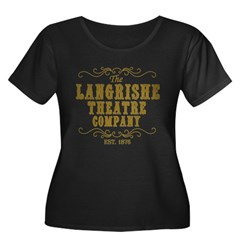 Langrishe Theatre Company Women's Plus Size Scoop Neck Dark T-Shirt