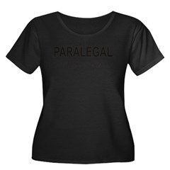Paralegal Women's Plus Size Scoop Neck Dark T-Shirt