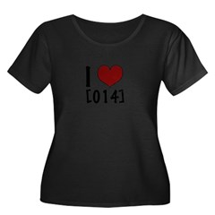 I Heart 014 Women's Plus Size Scoop Neck Dark T-Shirt