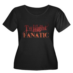 Twilight Fanatic Women's Plus Size Scoop Neck Dark T-Shirt