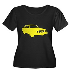 auto_volvo_140y Women's Plus Size Scoop Neck Dark T-Shirt