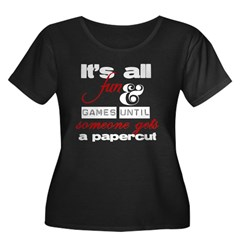 Papercut - dark Women's Plus Size Scoop Neck Dark T-Shirt