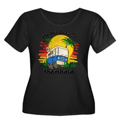 Road To Shambala Women's Plus Size Scoop Neck Dark T-Shirt