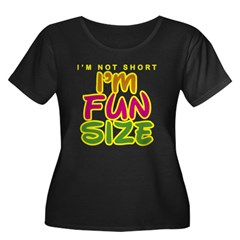 I'm Fun Size Women's Plus Size Scoop Neck Dark T-Shirt