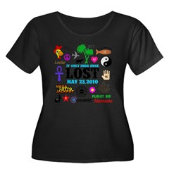 LOST Memories V2 Women's Plus Size Scoop Neck Dark T-Shirt