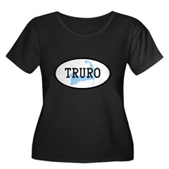 Truro Women's Plus Size Scoop Neck Dark T-Shirt