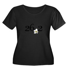 26.3 Daisey Design Women's Plus Size Scoop Neck Dark T-Shirt