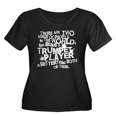Best Trumpet Player Women's Plus Size Scoop Neck Dark T-Shirt