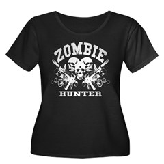 Zombie Hunter - Women's Plus Size Scoop Neck Dark T-Shirt