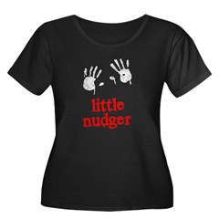 Little Nudger Women's Plus Size Scoop Neck Dark T-Shirt