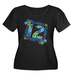 Class 2012 Blossoms Women's Plus Size Scoop Neck Dark T-Shirt