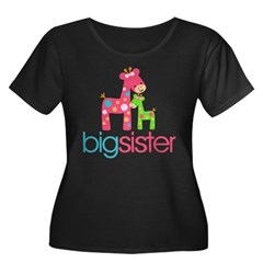 funky giraffe sister no name Women's Plus Size Scoop Neck Dark T-Shirt