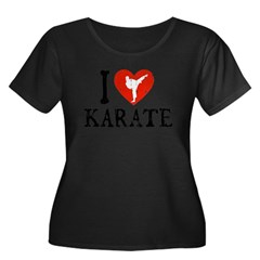 I Heart Karate - Girl Women's Plus Size Scoop Neck Dark T-Shirt
