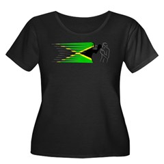 Boxing - Jamaica Women's Plus Size Scoop Neck Dark T-Shirt