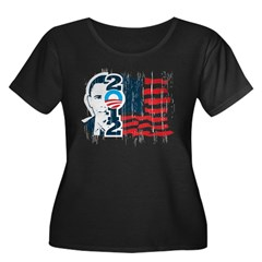 Barack Obama Women's Plus Size Scoop Neck Dark T-Shirt