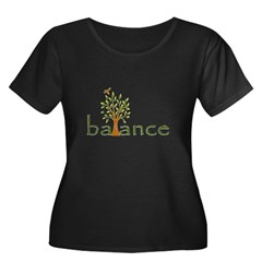 Balance Women's Plus Size Scoop Neck Dark T-Shirt