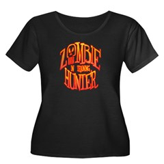 Zombie Hunter In Training Women's Plus Size Scoop Neck Dark T-Shirt