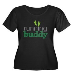 running buddy babyG Women's Plus Size Scoop Neck Dark T-Shirt