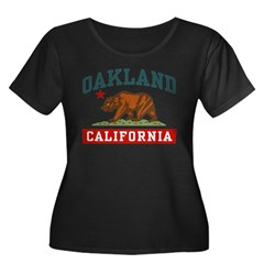 Oakland California Women's Plus Size Scoop Neck Dark T-Shirt