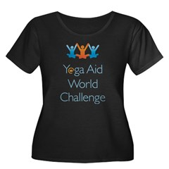 Yoga Aid World Challenge MILFORD Women's Plus Size Scoop Neck Dark T-Shirt