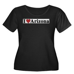 I Love Arizona Women's Plus Size Scoop Neck Dark T-Shirt