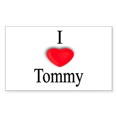Tommy Rectangle Sticker (Rectangle 50 pk)