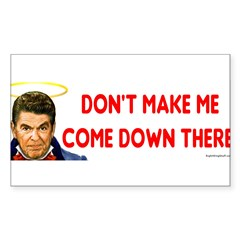 Dont make me! Sticker (Rectangle 50 pk)