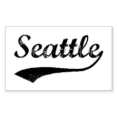 Vintage Seattle Sticker (Rectangle 50 pk)